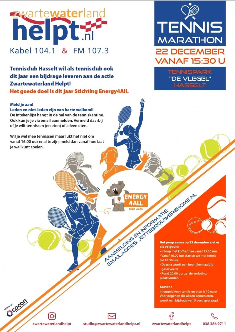 Tennismarathon Hasselt 2018 Energy4All